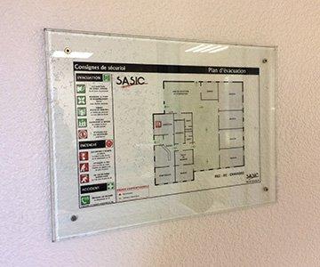 Habitation / plan d'évacuations & consignes actualité SASIC